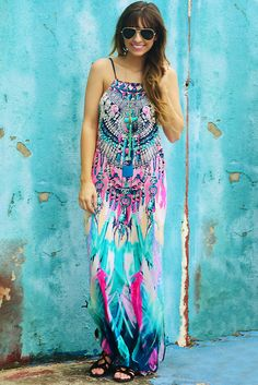 Falling For You Maxi Dress: Multi