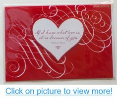 Greeting Valentine's Day Card If I Know What Love Is, It Is Because of You - Herman Hesse #Greeting #Valentines #Day #Card #Know #Love #Is #Herman #Hesse