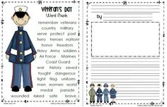 Sailing Through 1st Grade: Veteran's Day Freebie