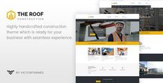 Roof - WP Construction, Building Business by VictorThemes Roof is the finest quality construction theme that equipped with intelligent features to support your customers quest and gives se
