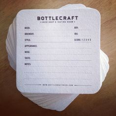 Bottlecraft Beer Coasters