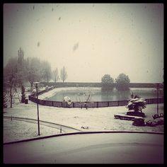 Neve neve neve...il giardino innevato!!! #hotelscoiattolo #ristorantescoiattolo #ristorantetorino #hotelpralormo #hoteltorino #hotelalba #ristorantealba