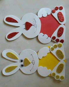 Easter bunny craft idea for kids crafts and worksheets for preschool toddler and kindergarten Easter Projects, Easter Crafts For Kids, Toddler Crafts, Preschool Crafts, Diy For Kids, Preschool Worksheets, Craft Activities, Easter Bunny Template, Bunny Templates