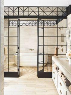 Giant Bathtub in Steam Shower Room