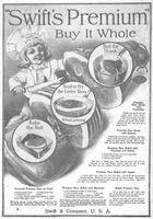 Swift's Premium Ham Shank Recipe 1916 Ad Picture