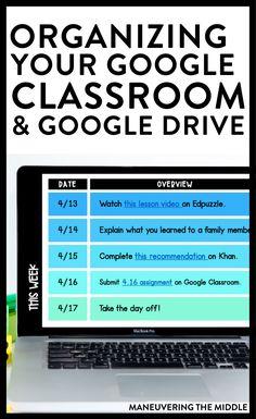 Online Classroom, Classroom Helpers, Classroom Ideas, Classroom Organization, Classroom Management, Learning Organization, School Classroom, Google Drive, Instructional Technology