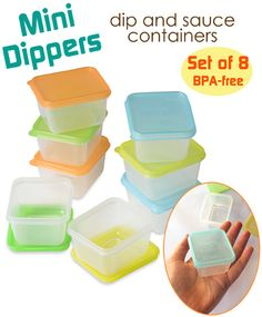 Small Containers for Dips and Sauces - EasyLunchboxes.com