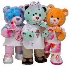 Cute Stuffed Animals, Cute Teddy Bears, Build A Bear, Cute Stickers, Childhood, Cuddling, Plush, Kitty, Ice Cream