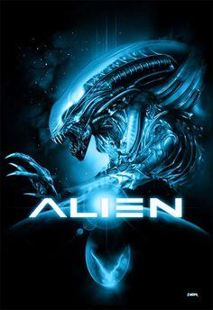 A real good fan art poster for Alien.