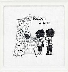 Jip en Janneke borduurpakket - superleuk als geboortekado! € 19,95 #baby #borduren #kado #babyshower