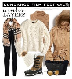 """Film Festival: Sundance Style"" by louise-frierson ❤ liked on Polyvore featuring New York & Company, STELLA McCARTNEY, MICHAEL Michael Kors, Prada, Exclusive for Intermix, J.Crew and Burberry"