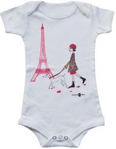 Organic cotton bodysuit  www.zazazou.com