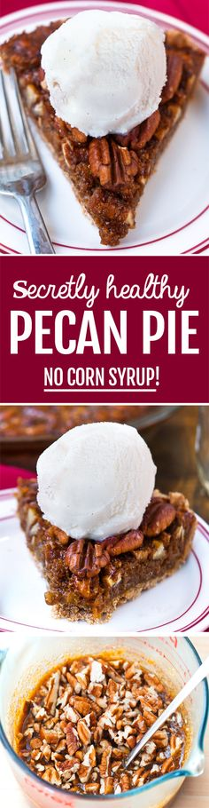 This pecan pie recipe is amazing! No one can believe it's a healthy pecan pie