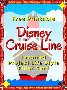 """Disney Cruise Line Inspired """"Ship"""" Project Life Style Title Card - Mouse House Digi Scrapping Disneyland Cruise, Disney Magic Cruise, Disney Cruise Ships, Disney Scrapbook, Scrapbooking, Disney Lines, Cruise Planners, Project Life Album, Title Card"""