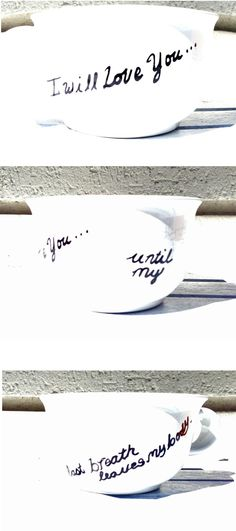 """Downtown Abby Quote Mug   Season 3, 06   Matthew and Mary  """"I will love you until the last breath leaves my body."""""""