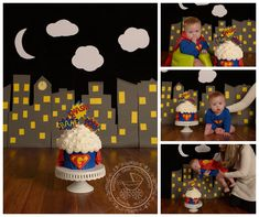 Two of my favorite first birthday cake smash sessions on the blog today!  I  had so much fun planning these smashes.  Sometimes I hear the moms of boys  say that there isn't as much 'cute stuff' available for boys as there is  for girls. But I disagree - and these two cake smashes prove it! First up,  is Gabriel - his family moved out of the area a few months after signing up  for our Milestones Plan, so we had to do a bit of a schedule change.  His  first birthday cake smash session was…