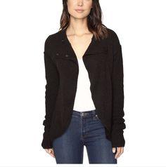 NWT Free People Women's Black Wool Alpaca Cardigan Sweater Sz XS Extra Small New  | eBay