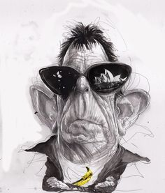 Lou Reed  gallery of cartoons tribute http://fany-blog.blogspot.it/2013/10/lou-reed.html disegno di David Rowe