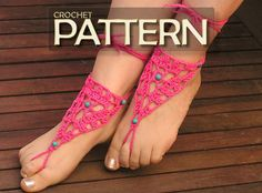 Barefoot Sandals Crochet PDF Pattern Instructions DIY by NATgirona