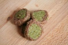 Bei Carola ist immer ganz viel selbstgemacht, nicht nur die Brötchen, sondern auch diese Matcha-Schoko-Kekse.