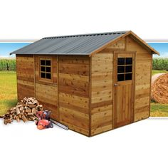 Master Shed 8x12 Timber Garden Shed 2.53m x 3.64m with Gable Roof | Cheap Sheds