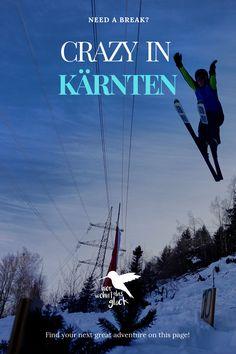 Wintersport in Kärnten: Eislaufen, Skifahren und Rodeln sind dir zu langweilig?  Du liebst das Abenteuer und bist für jeden Spaß zu haben? Dann wirst du unsere verrückten Veranstaltungsempfehlungen lieben! #kärnten #wintersport #wintersportinkärnten #skispringen #fassdaubenrennen #zipfelbob #urlaubinkärnten #urlaubinösterreich #ausflügeinkärnten #ausflügeinösterreich #freizeitspaß #ausflügemitkindern #highlightsinkärnten Need A Break, Greatest Adventure, Finding Yourself, Movie Posters, Movies, Ice Skating, Ski, Adventure, 2016 Movies