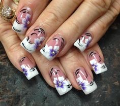 Flowers Mine by Pinky - Nail Art Gallery nailartgallery.nailsmag.com by Nails Magazine www.nailsmag.com #nailart