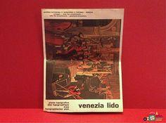 1976 Venice Map Venezia Lido Tourist Map Fold-Out Map