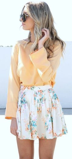 Long sleeves with skirt