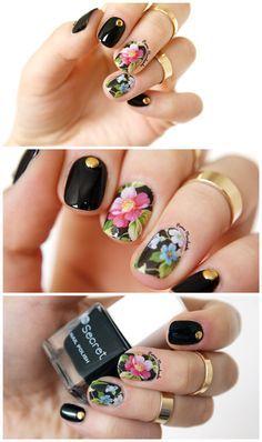 $1.99 Chic Flower Nail Art Water Decals Transfer Stickers Splendid Water Decals Sticker #D013/D014/D015 - BornPrettyStore.com