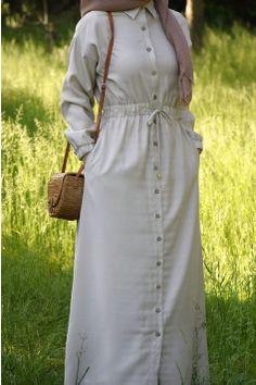 Islamic Fashion, Muslim Fashion, Hijab Fashion, Fashion Dresses, Muslim Dress, Hijab Dress, Hijab Outfit, Dress With Cardigan, Shirt Dress