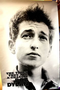 Young Bob Dylan - The Times They Are A-Changn  Poster 2 feet x 3 feet                                                                                                                                                      More