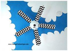 Chevron Ceiling Fan Blade Replacements Black and White www.funkyletterboutique.com | kids décor |