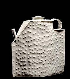 Philip Cornelius  Yukon Teapot and Lid  1981 porcelain  6 3/4 x 6 1/4 x 2 3/4 in.