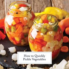 How to Quickly Pickle Vegetables The Best Vegetables to Pickle! - Step-by-step instructions on how to quickly pickle vegetables for salads, sides and any dish that needs a little pick me up + the best vegetables to pickle! Celery Recipes, Low Carb Chicken Recipes, Sauce Recipes, Cucumber Recipes, Pickled Vegetables Recipe, Canning Vegetables, Veggies, Vegetable Prep, Vegetable Recipes