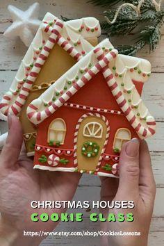 Christmas Cookies Packaging, Christmas Sugar Cookies, Christmas Sweets, Christmas Cooking, Holiday Cookies, Gingerbread Cookies, Christmas Crafts, Decorated Christmas Cookies, Decorated Cookies