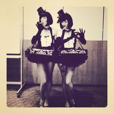 The Lunch Girls at the American Academy - I was the cigarette girl and resident bad girl Rhonda. Are you seeing a pattern here?