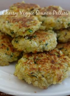 Must try these! Cheesy veggie quinoa patties are the perfect snack or lite meal