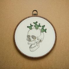 Awesome Most Popular Embroidery Patterns Ideas. Most Popular Embroidery Patterns Ideas. Modern Embroidery, Embroidery Hoop Art, Embroidery Patches, Hand Embroidery Patterns, Cross Stitch Embroidery, Embroidery Designs, Sewing Patterns, Cactus Embroidery, Skull Planter