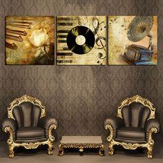 Aliexpress.com: Comprar Clásica decoración Vintage Retro Picture imágenes decorativas de la pared para sala de estar dormitorio Pop pintura al óleo del arte en la lona de marcos para decorar fiable proveedores en Your Unique Decoration