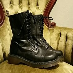 Doc Martens Miranda Zip Up Combat Boot These were worn about two times. Great condition. Feel free to make an offer! Dr. Martens Shoes Combat & Moto Boots