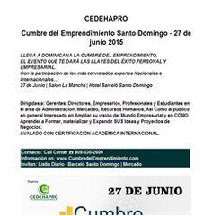 Cumbre del Emprendimiento Santo Domingo - 27 de junio 2015 - Publicidad
