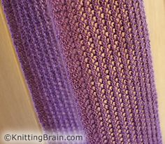 Simple reversible lace scarf knitting pattern