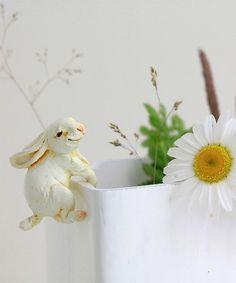 Look at this #zulilyfind! Rabbit Flower Pot Hugger #zulilyfinds