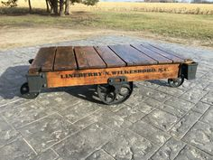 For Sale We Offer Refinished Lineberry Factory Cart Coffee Tables! These  Tables Date Back Between