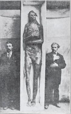 Cráneos y esqueletos gigantes de una raza de Goliat se han encontrado en una base muy regular a lo largo de los estados del medio oeste durante más de 100 años. Sus tumbas son similares a los montículos conocidos del pueblo Mound Builder. El espectro del Montículo historia constructor abarca un período de más de 5.000 años (desde 3400 aC al 16 dC), un período mayor de la historia al del antiguo Egipto.