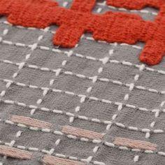 Textile detail of Bandas Chair E by Gan Rugs. Stitching / Applique / Textiles / Lounge
