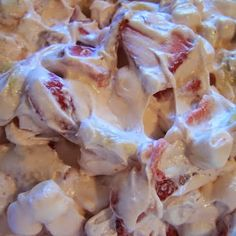 Strawberry Cheesecake Salad - A huge hit and awesome for a potluck!..