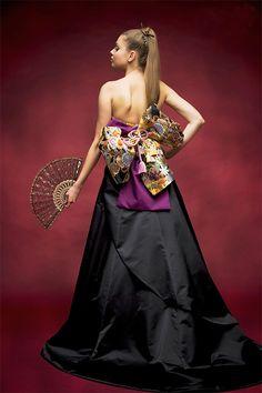 和ドレス(ジャスパ BK/レンタル)|和ドレス着物ドレス。結婚衣装のアツニシカワ(名古屋・東京恵比寿)