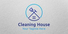 Buy Cleaning House Logo Template by CMonica on Codester. Clean and modern logo for any business related to cleaning services. Cleaning Service Logo, Cleaning Company Logo, Cleaning Companies, Cleaning Business, Cleaning Logos, Dusty House, Clean Toilet Bowl, Outdoor Companies, Web Design